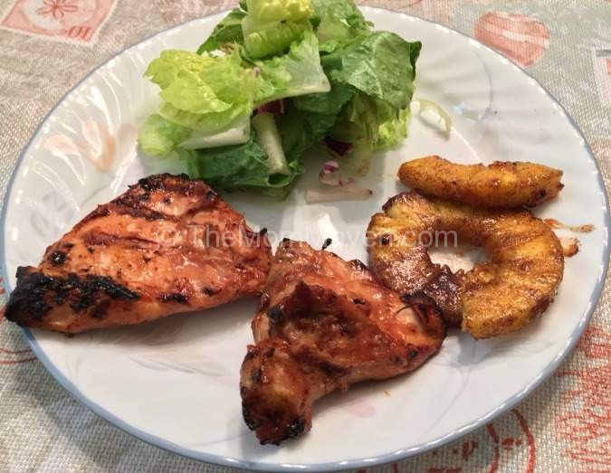 Hawaiian Huli Huli Chicken with Grilled Pineapple recipe