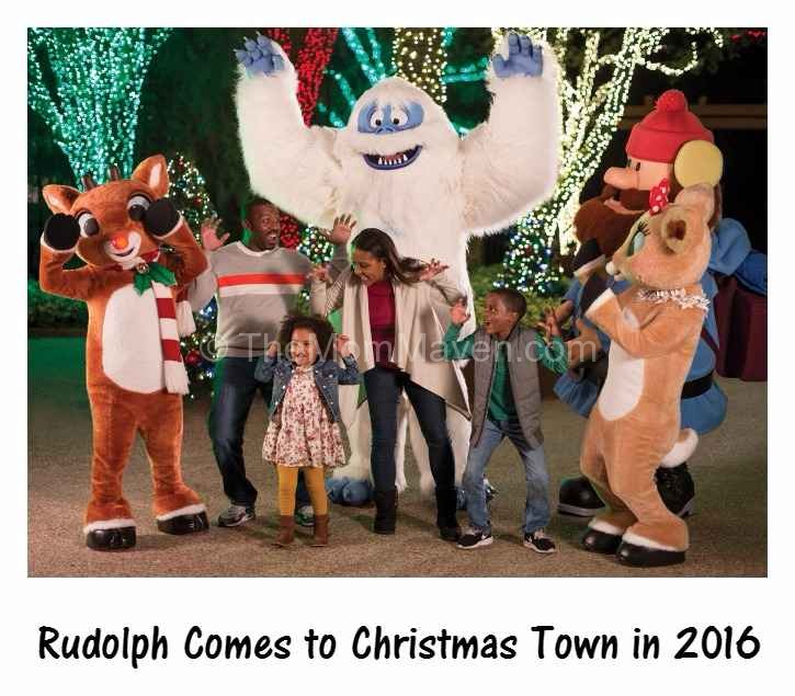 Rudolph the Red-Nosed Reindeer and friends come to Christmas Town at Busch Gardens in 2016