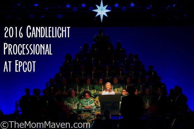Each year, the Candlelight Processional comes to the America Gardens Theatre at Epcot, filling it with holiday music.