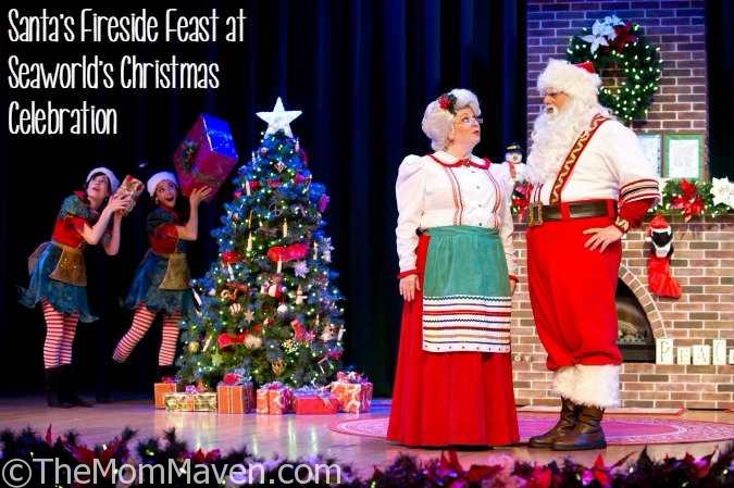 You can dine at Santa's Fireside Feast at SeaWorld's Christmas Celebration.