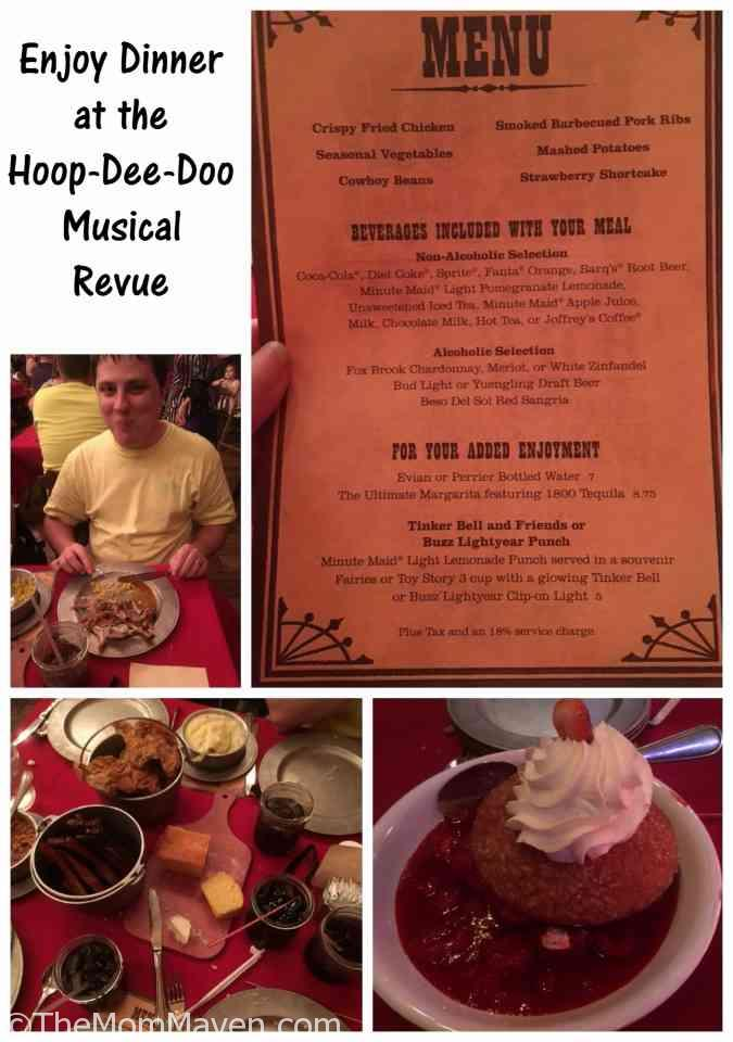 Enjoy a fun night out with family or friends at the Hoop-Dee-Doo Musical Revue at Walt Disney World