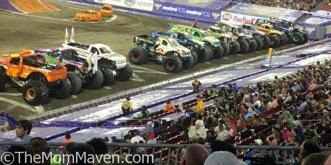Monster Jam Tampa 1-14-17 the view from our seats-compressed