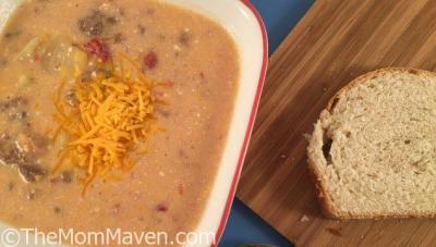 Easy Crockpot Bacon Cheeseburger Soup