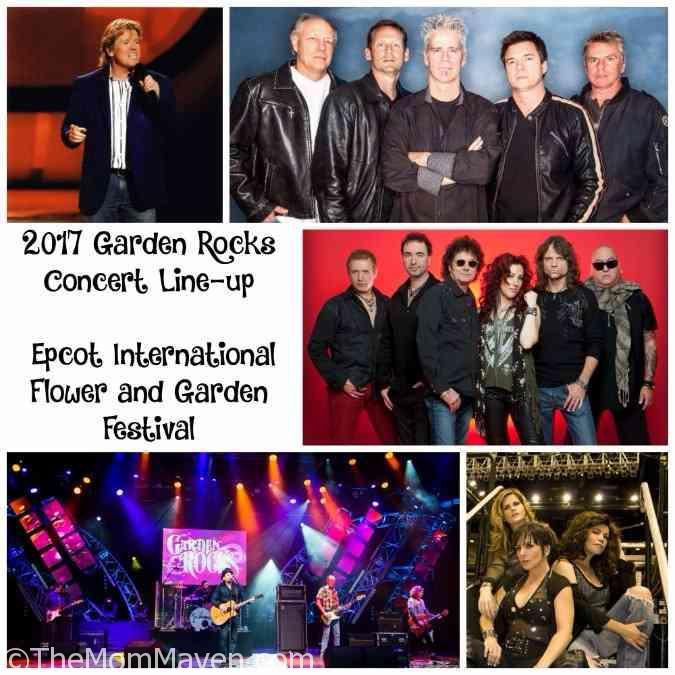 2017 Garden Rocks Concert Line-up Epcot International Flower and Garden Festival