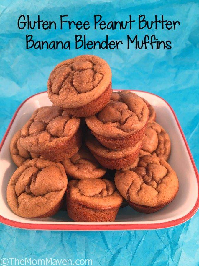 Easy to make Gluten Free Peanut Butter Banana Blender Muffin recipe