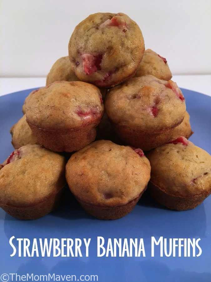 These strawberry banana mini muffins are easy to make and are a great little snack. Enjoy this easy recipe!