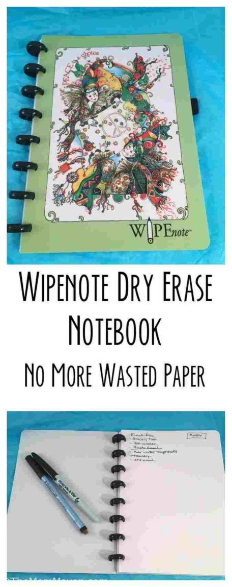 With the Wipenote Dry Erase Notebook there is no more wasted paper!