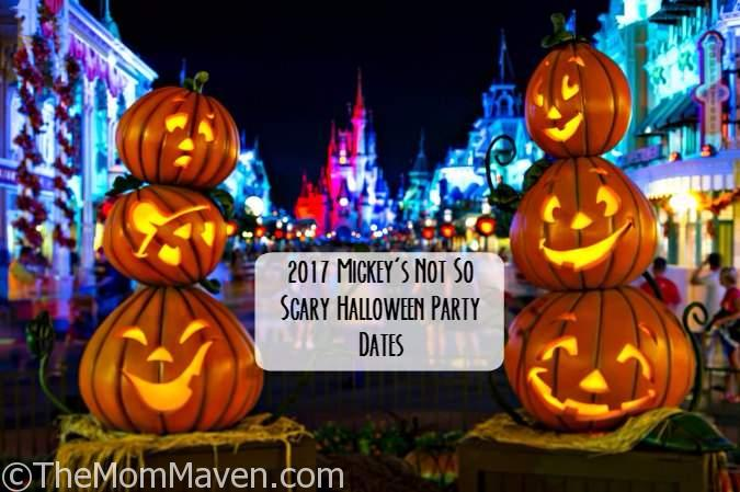 The 2017 dates for Mickey's Not So Scary Halloween Party have been announced for Walt Disney World Magic Kingdom!