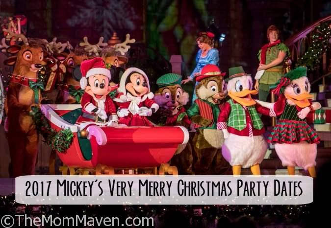the dates for very merry christmas party have been announced for walt disney world
