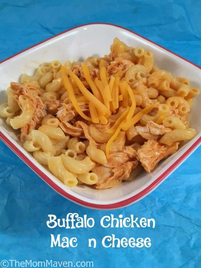 This Buffalo Chicken Mac n Cheese recipe is a light yet flavorful twist on two old favorites.