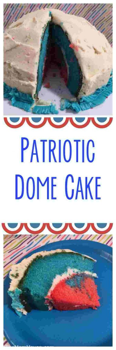 This Patriotic Dome Cake recipe is easy to make with the Betty Crocker Bake'n Fill 4 Piece Bake Set