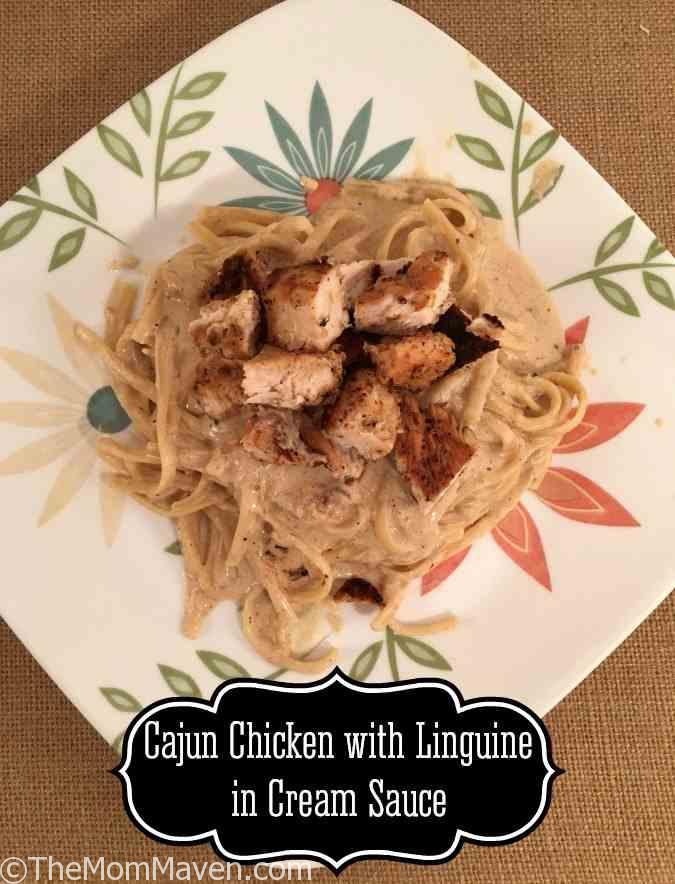 This easy Cajun chicken with Linguine in Cream Sauce recipe is a well balanced, spicy dish.