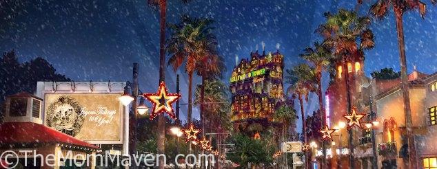 Each evening from November 9-December 31, 2017 Sunset Blvd at Disney's Hollywood Studios will come to life in Sunset Seasons Greetings.