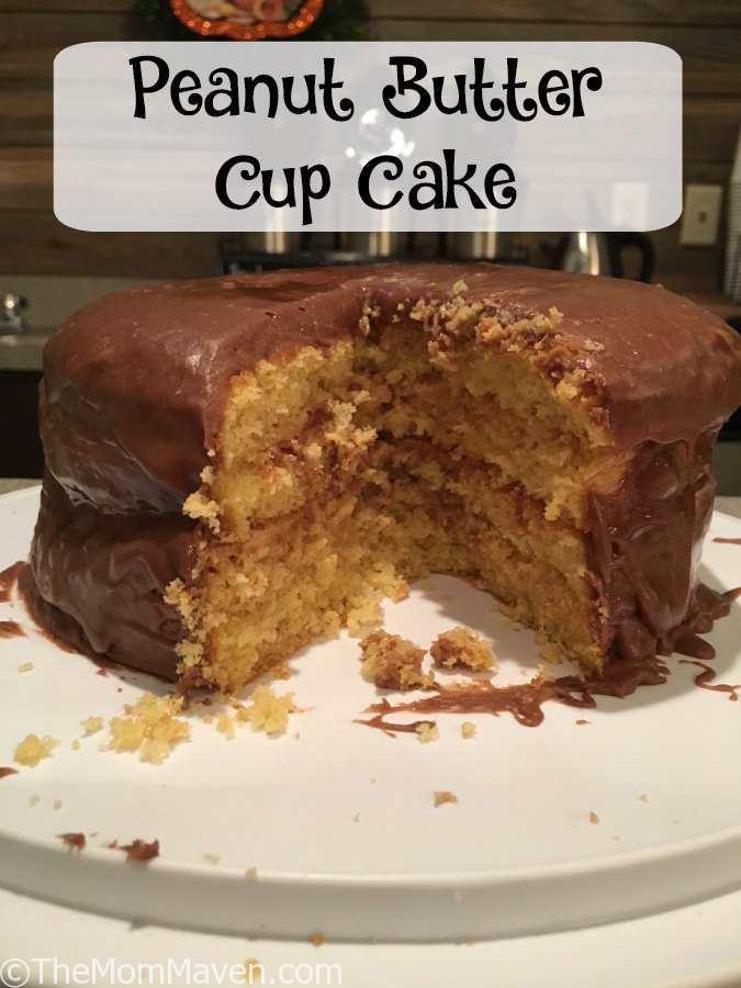 Peanut Butter Cup Cake Recipe - The Mom Maven