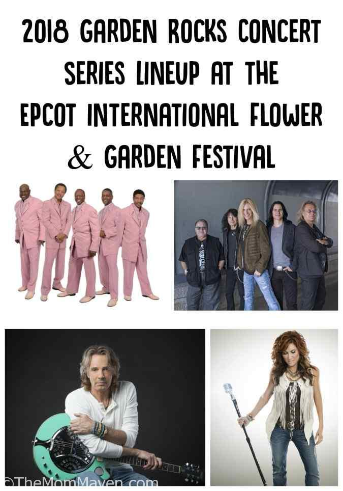 Disney guests will be working their way back through five decades of hit tunes slated to rock the 25th Epcot International Flower & Garden Festival between March 2 and May 28 during the 2018 Garden Rocks Concert Series.