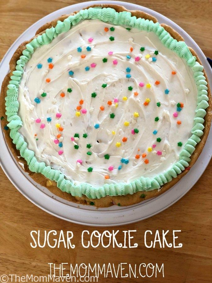 Look no further for a sweet spring treat. This easy Sugar Cookie Cake is perfect for any spring gathering or celebration.