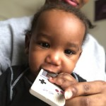 Baby with his Gameboy teether