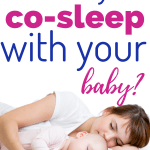 co-sleeping with your baby/ mom cosleeping with baby/co-sleeping with newborn baby