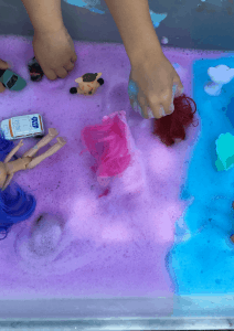 bubble foam/sensory activities/toddler/kids and parenting/playtime