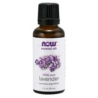 NOW Essential Oils, Lavender Oil, Soothing Aromatherapy Scent, Steam Distilled, 100% Pure, Vegan, 1-Ounce