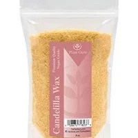 Candelilla Vegan Wax Flakes 8 oz 100% Pure and Natural For Skin, Face, Body and Hair DIY Creams, Lotions, Lip Balm and Soap Making Supplies. Beeswax Substitute