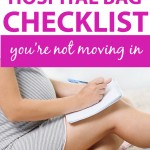 hospital bag checklist pdf/printable hospital bag checklist for labor and delivery