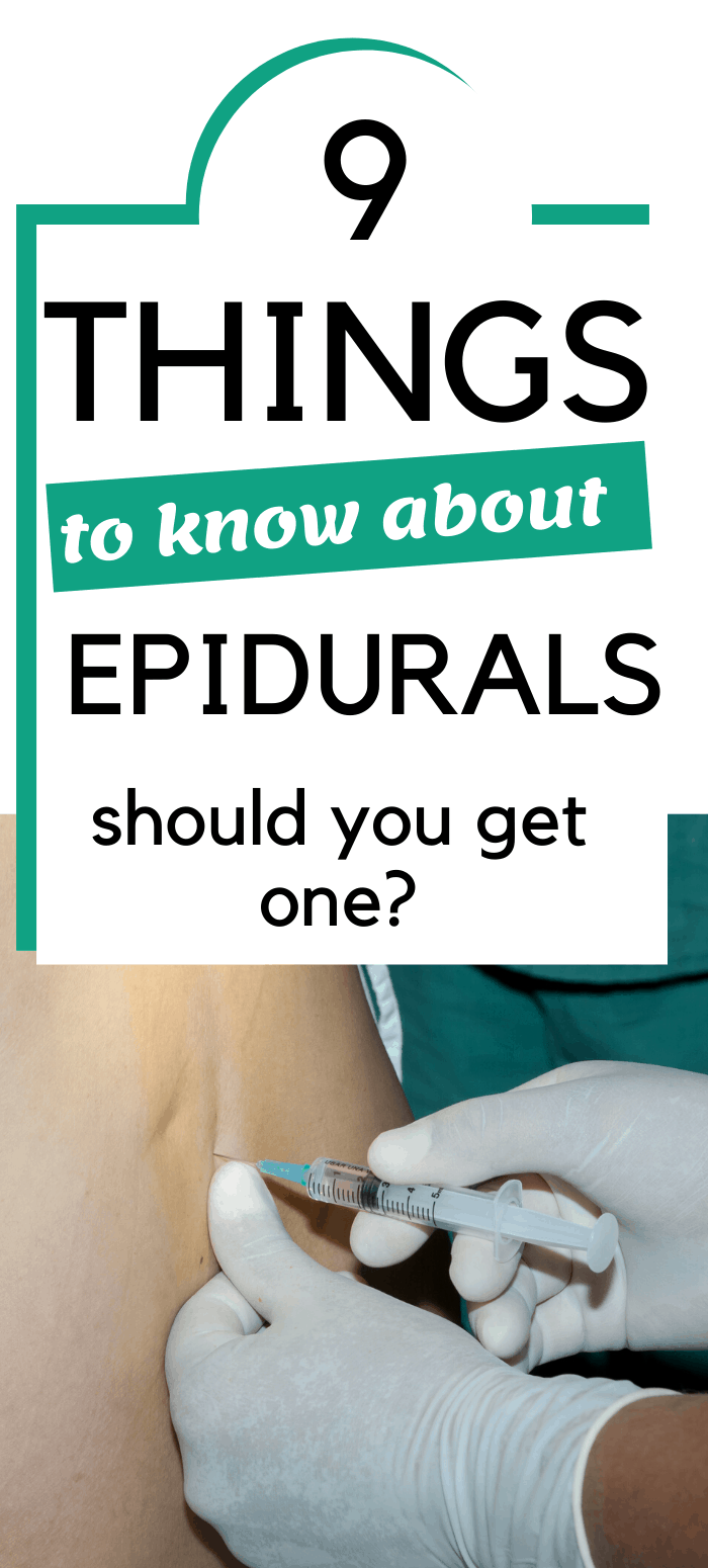 facts about epidurals