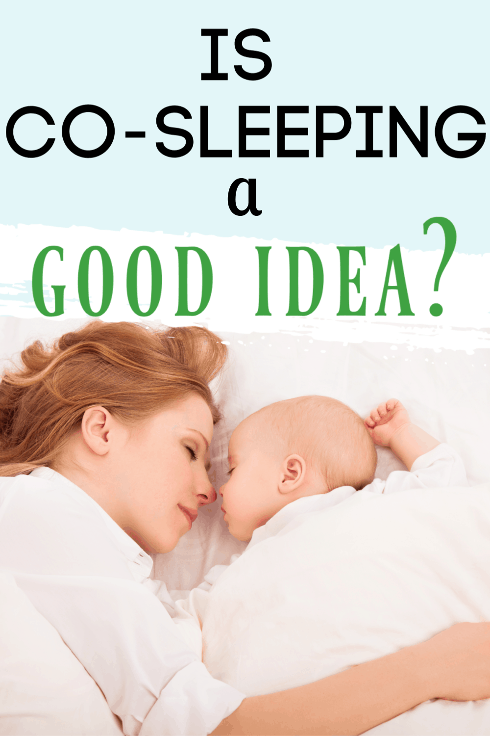 co-sleeping with a newborn/co-sleep with baby