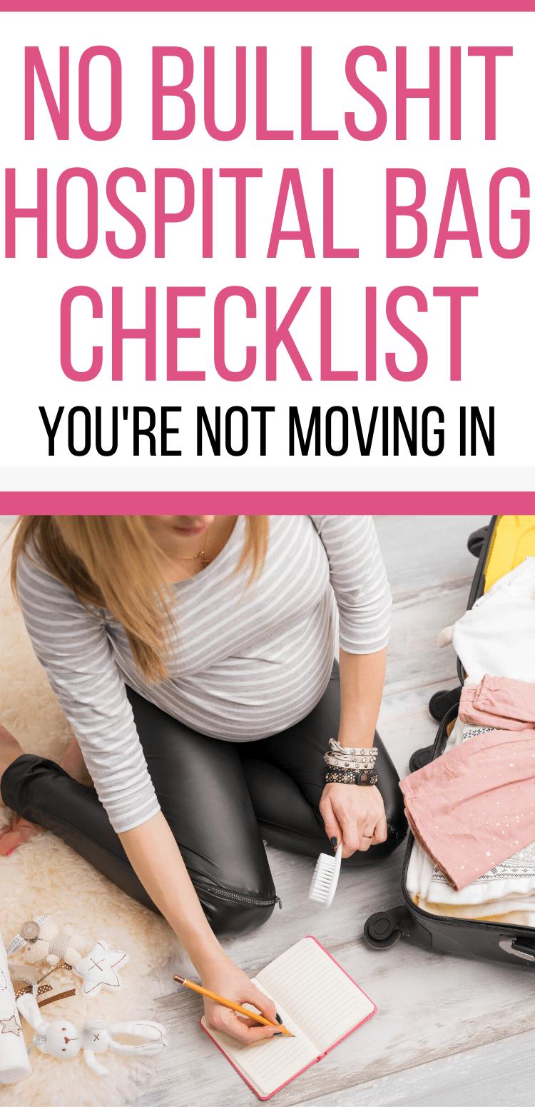 printable hospital bag checklist for mommy/hospital bag checklist for mom to be