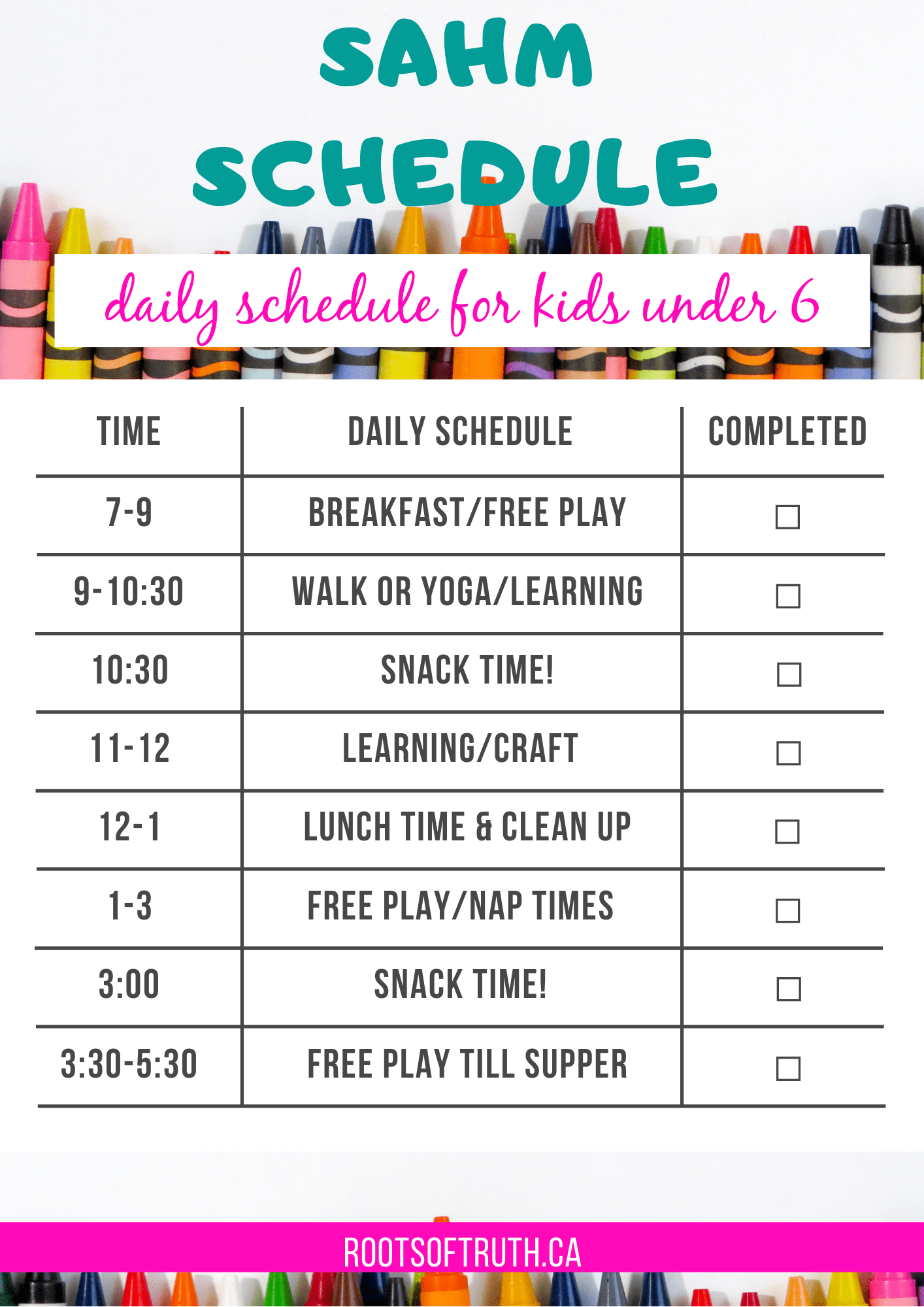 stay at home mom schedule/stay at home mom daily schedule template/stay at home mom schedule printable/