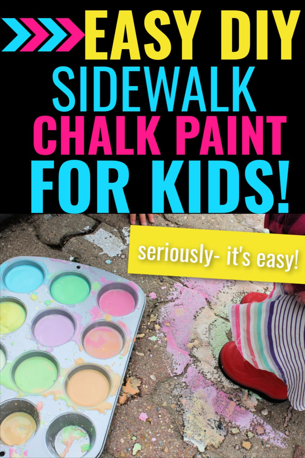sidewalk chalk paint/sidewalk paint with cornstarch