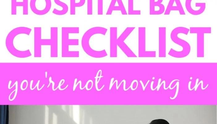 hospital bag checklist for labor/labor bag checklist