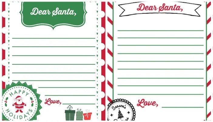 Dear Santa Letter Template Free Printables 2020