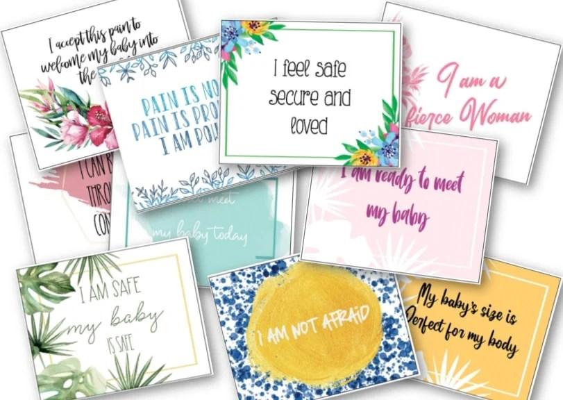 birth affirmation cards/positive birth affirmations