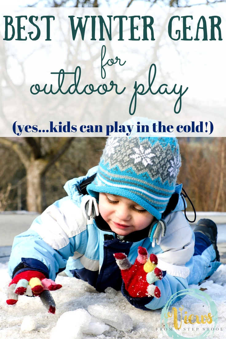 Research shows that kids can play outside when cold. Feel good about this choice by bundling them up in the best cold weather kids gear.