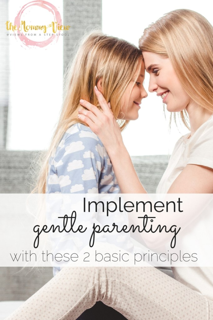 Implement gentle parenting by focusing on the relationship with the child and fostering a positive relationship through empathy and mutual respect between parent and child.