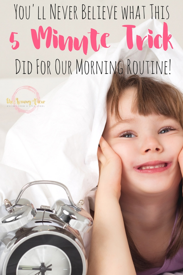 The 5 minute trick to make your morning routine much happier. This mom identified that he son responds to time and touch, and incorporated this.