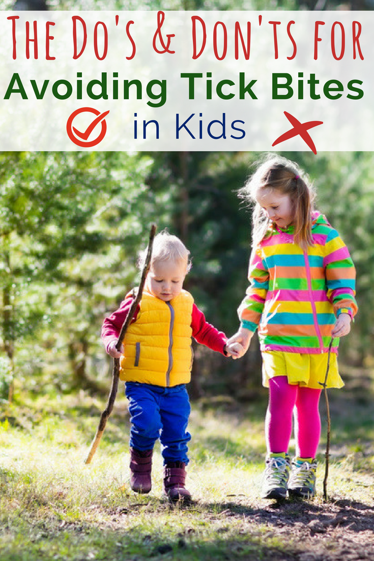 Prevention is key to tick bites. Here are the best tips as well as what to do if a tick is found on your child, plus, what you want to avoid. #tickbites #ticksandkids #forestschool #kidsoutside #parentingtips