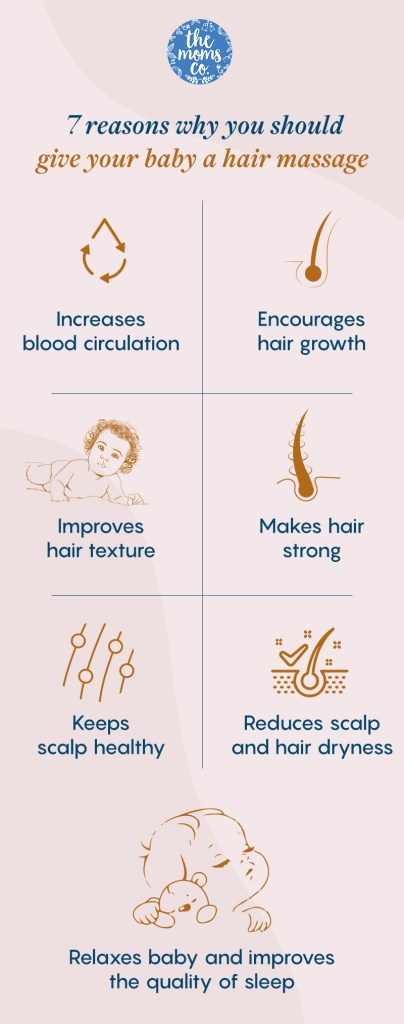 Benefits of giving Baby Hair Massage