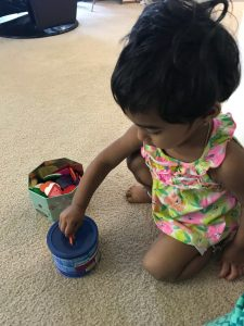 Transfer activities for toddlers