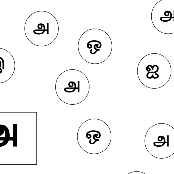 Tamil letter matching