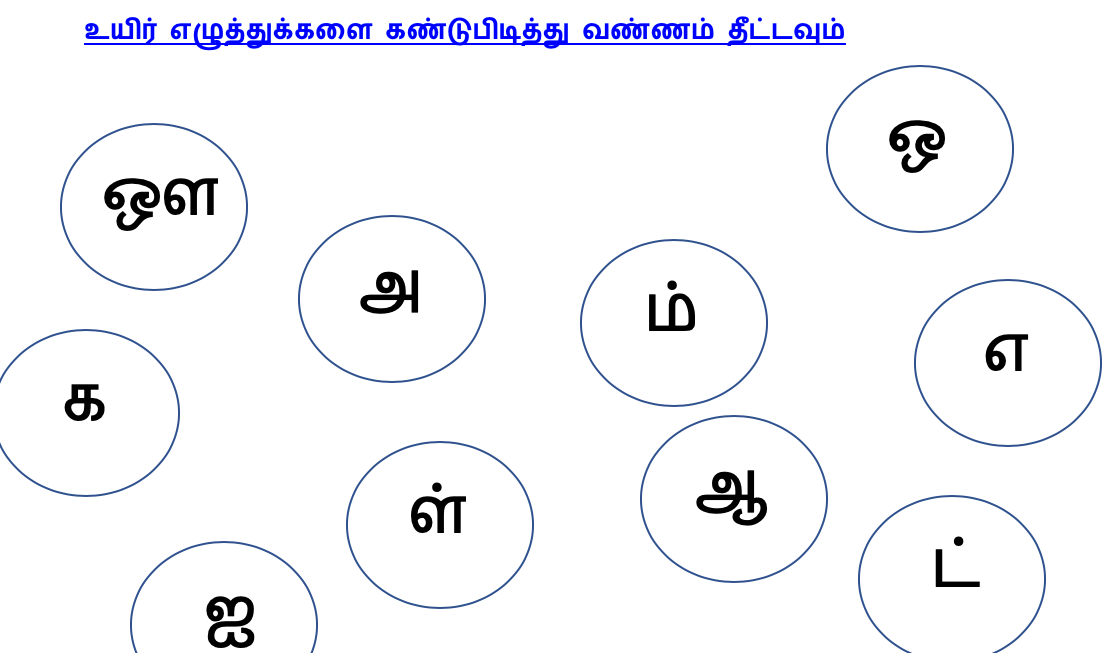 Finding Tamil Letters