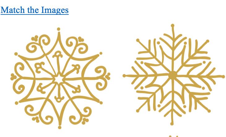 Preschool printable- Visual discrimination Snowflake Matching