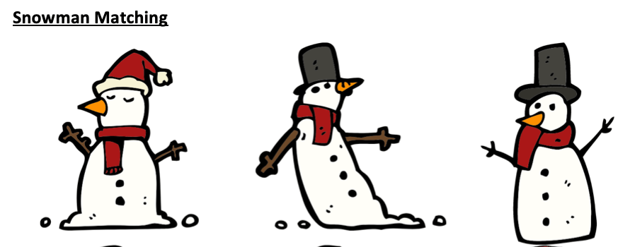 Winter theme printable