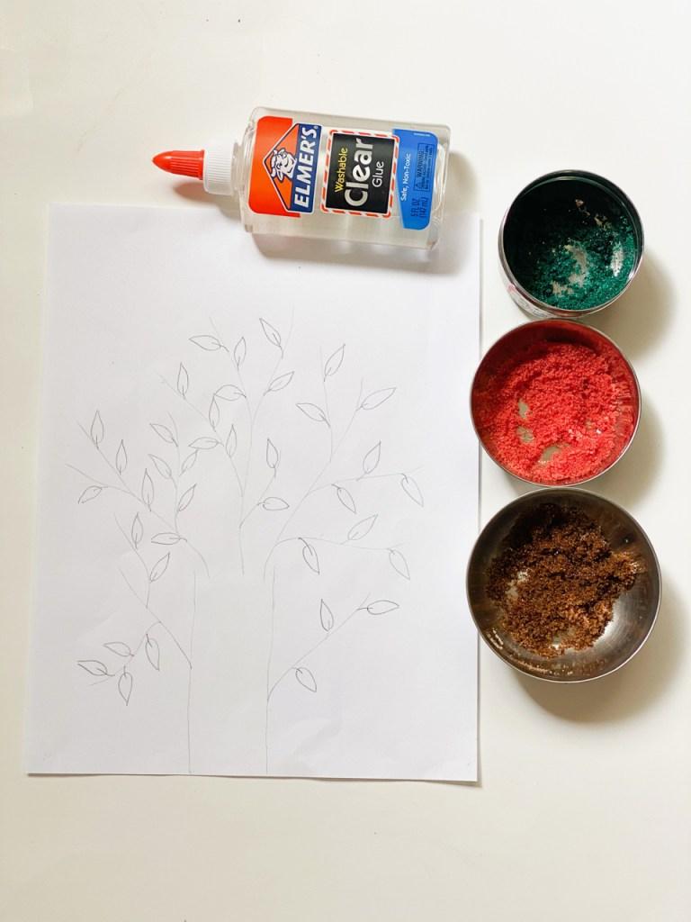Salt art for kids