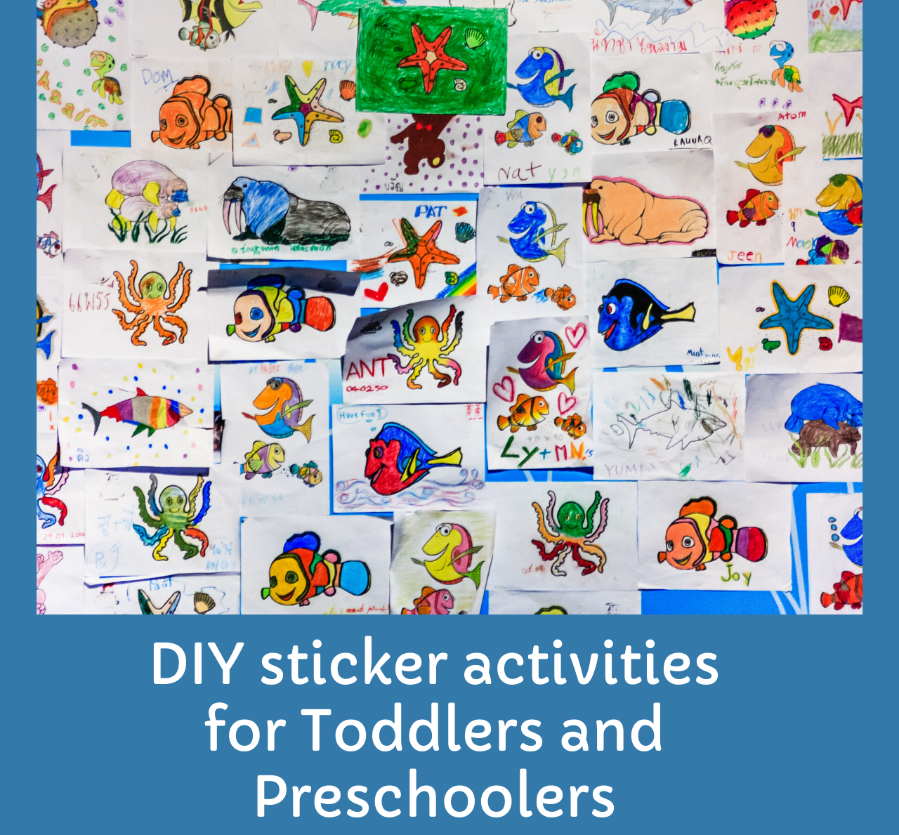 Sticker activities for Children