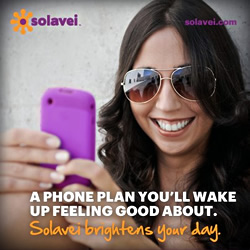 A phone plan you'll wake up feeling good about. Solavei brightens your day.