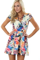 "Big Floral Prints - ""Quilted Floral Dress"" ($34.99) - sophieandtrey.com"