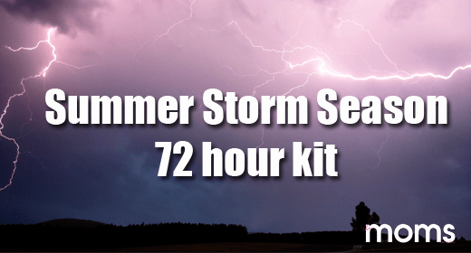 Summer Storm Season - 72 hour kit