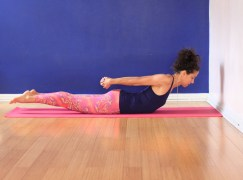 2. Shalabhasana - full expression of pose - lengthen from toes to head, hands to chest